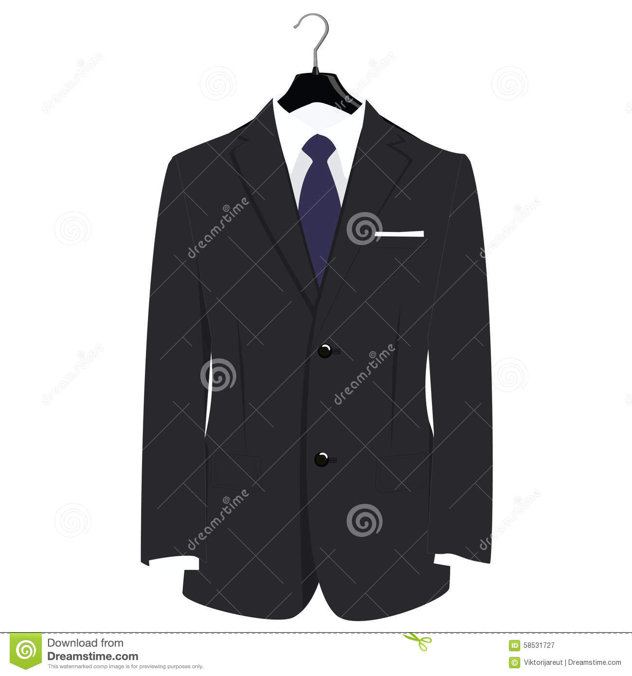 Grey Businessman Suit With Blue Neck Tie And White Shirt