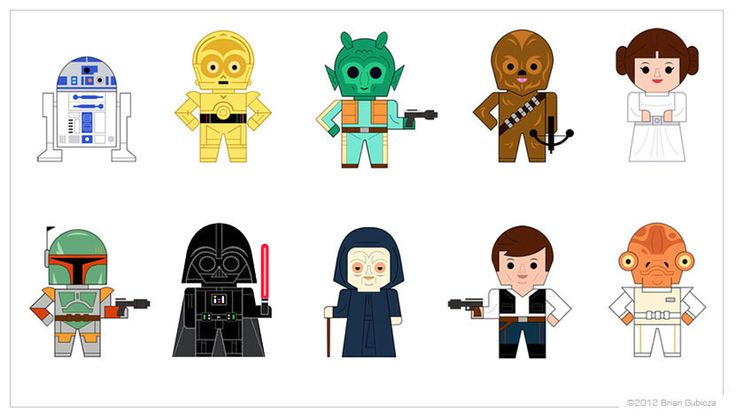 Star Wars Characters Clipart - Clipart Kid
