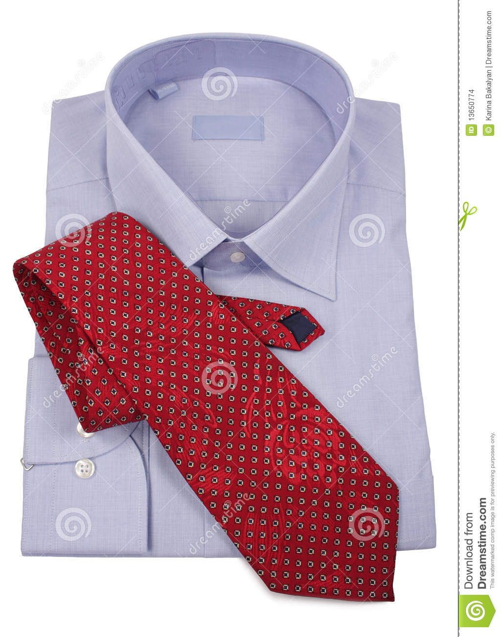 More Similar Stock Images Of   Blue Shirt With Red Tie