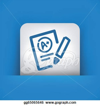 Of Excellent Evaluation Test Icon  Stock Clipart Gg65065646