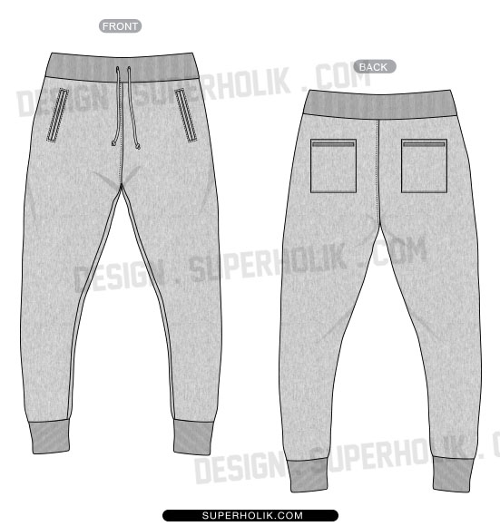 Order Jogger Pants Template   Flat Ai   Pdf   Vector Files    4 25 Qty