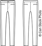 Skinny Pants   Vector Illustration Of Womens Skinny Pants