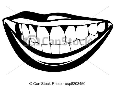 Teeth Clipart Black And White   Clipart Panda   Free Clipart Images