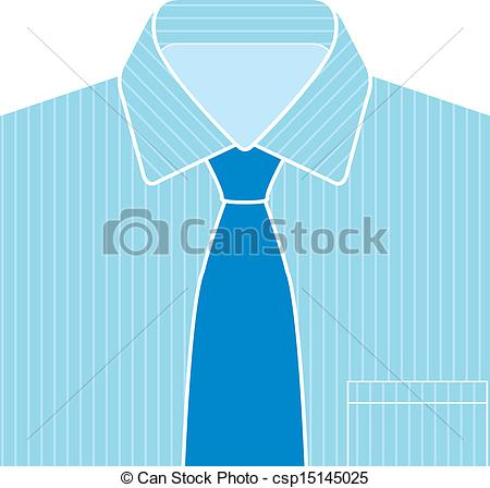 Vector Illustration Of Blue Shirt And Tie Vector   Shirt And Tie