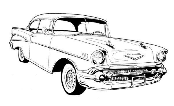 57 Chevy Bel Air Clip Art