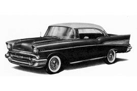 57 Chevy Clipart 1957 Chev Series 2400 Bel Air