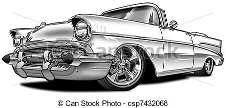 57 Chevy Clipart Stock Illustration   57
