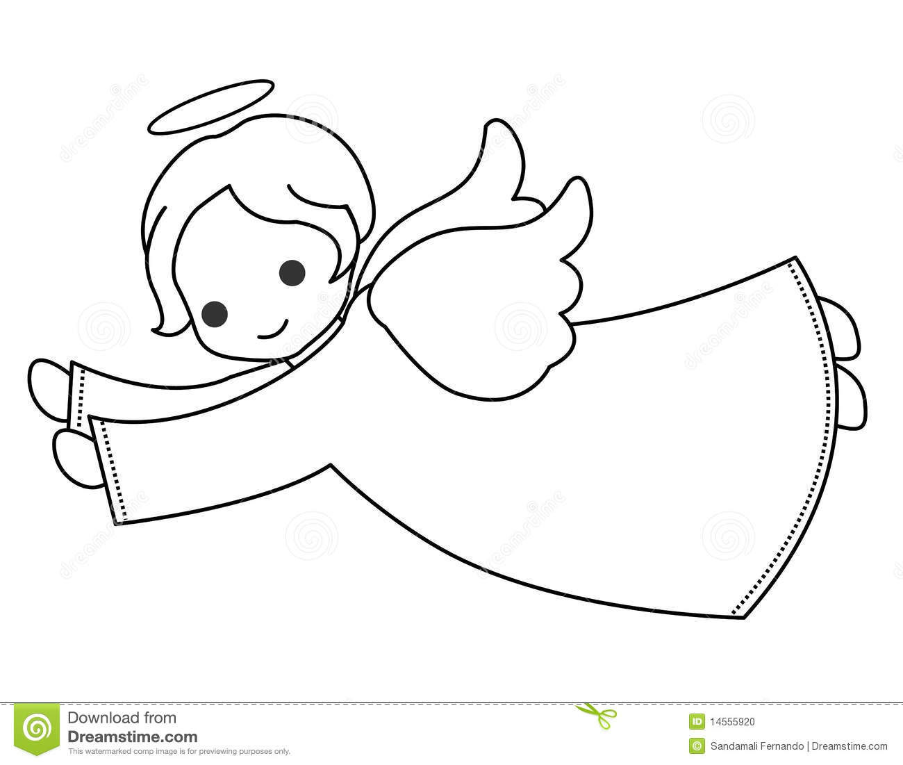 Angel   Little Fairy Vector Illustration Isolated On White Background