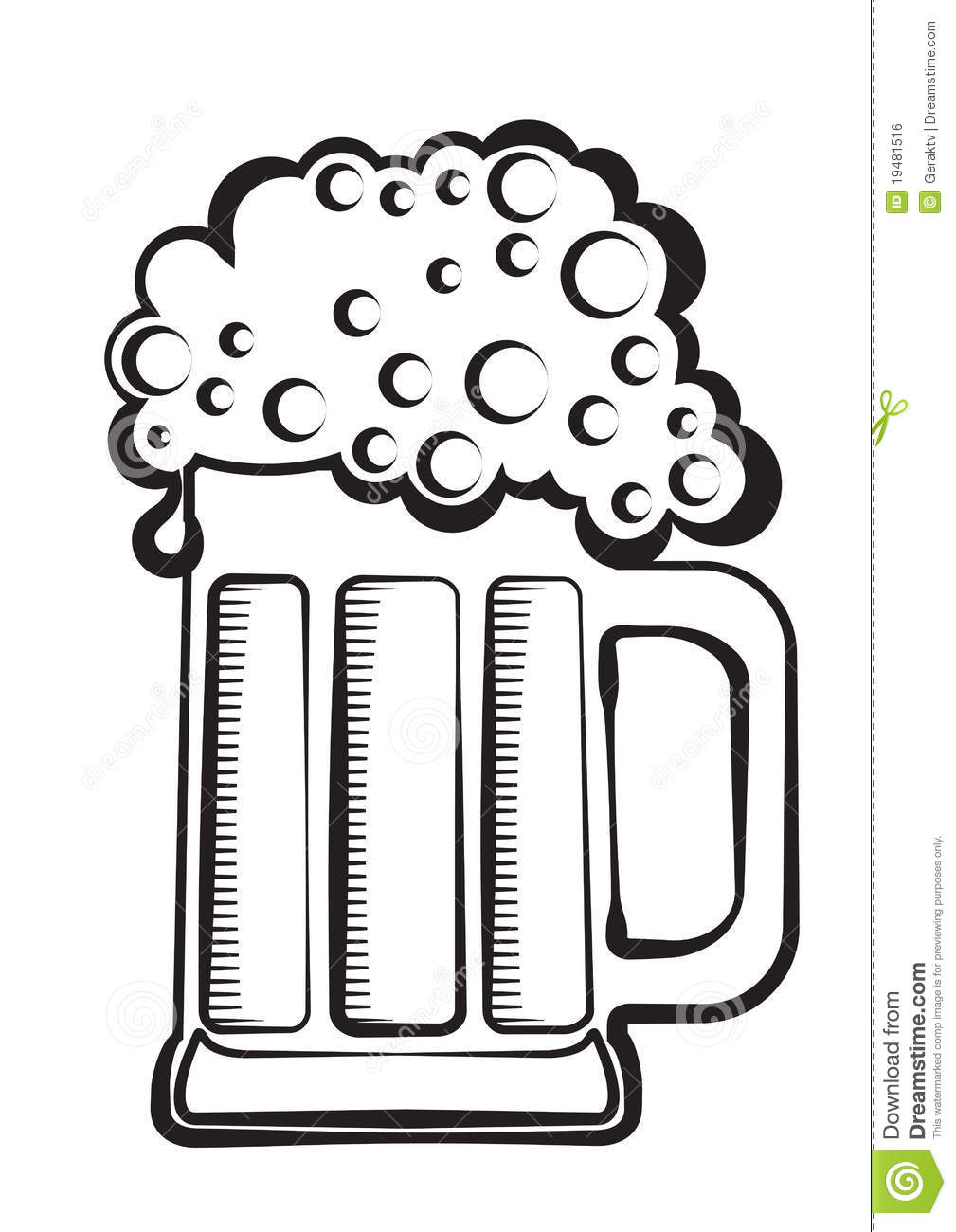 Black And White Beer Clipart - Clipart Suggest