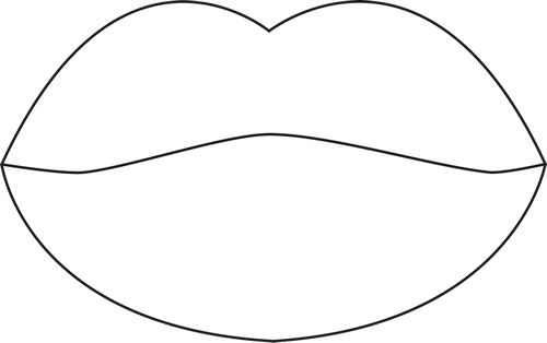 white outline around lips
