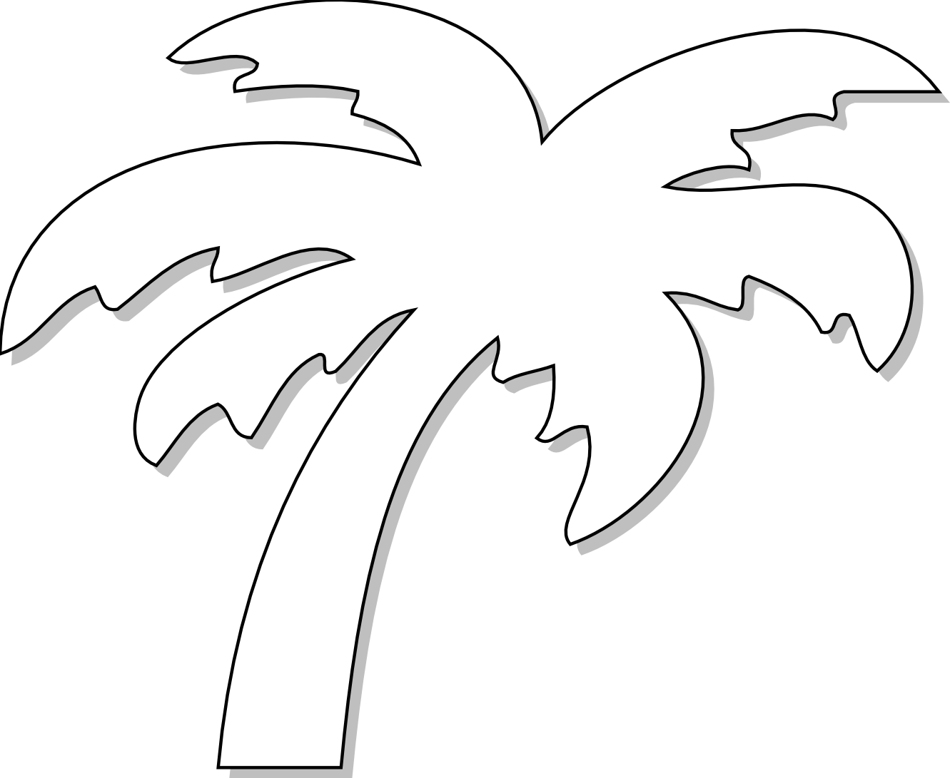 Palm Tree Black And White Clipart - Clipart Suggest