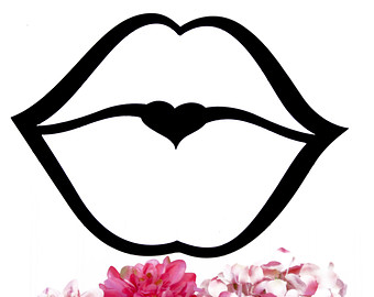 Kissing Lips Black And White Clipart - Clipart Kid