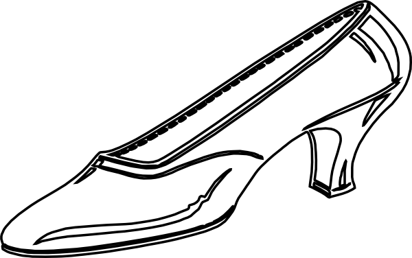 Cinderella Clipart Black And White Woman S Shoe Outline Hi Png