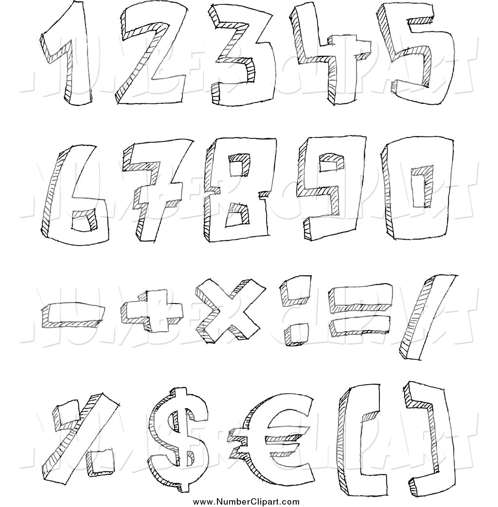 Math Symbols Black And White Clipart - Clipart Kid