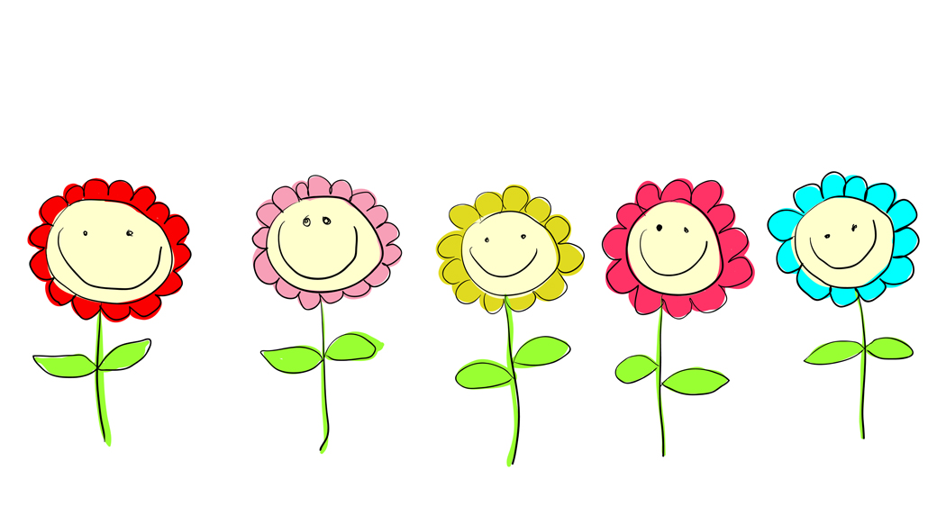 Line Drawing Leap Years And Euclid : Smiling flowers clipart suggest