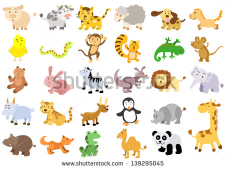 Extra Large Set Of Animals  Eps8 File   Simple Gradients No Effects