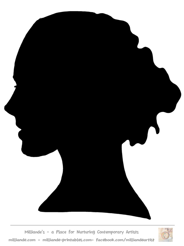 Face Silhouette Woman Stencilface Silhouette Collection Of Stencil