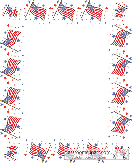 American Flag Border Clipart - Clipart Suggest