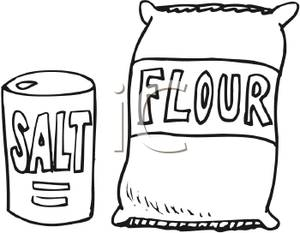 Flour Clipart Black And White Salt And Flour Bags Royalty Free Clipart