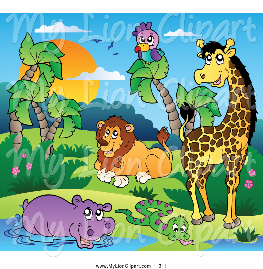 Group Of Animals Clipart Clipart Suggest