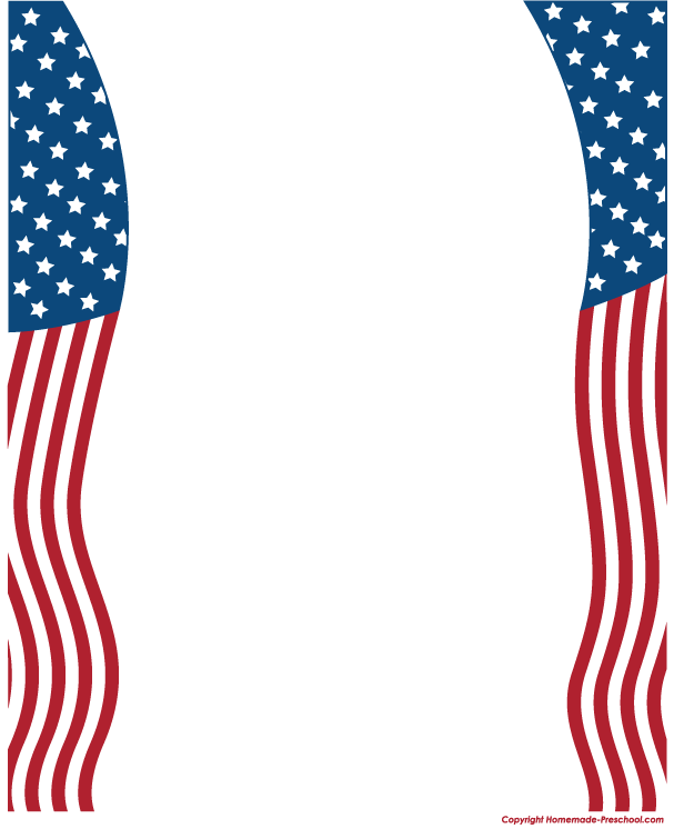Home Free Clipart American Flags Clipart American Flag Border