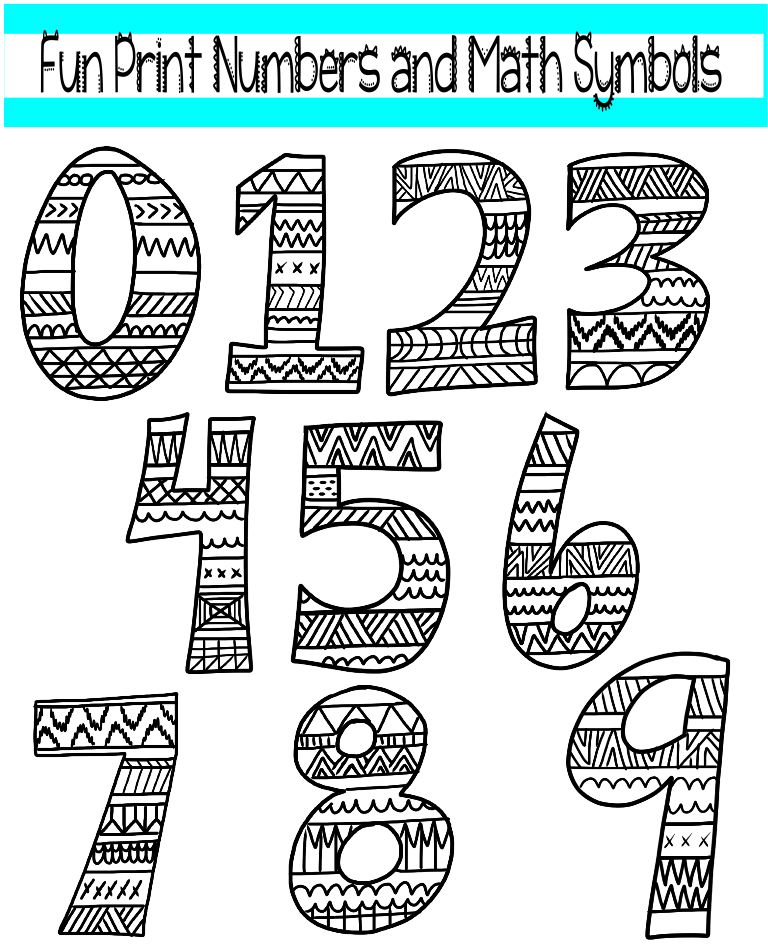 math symbols coloring pages mathematics black and white