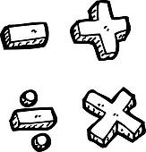 Math Clipart Black And White   Clipart Panda   Free Clipart Images