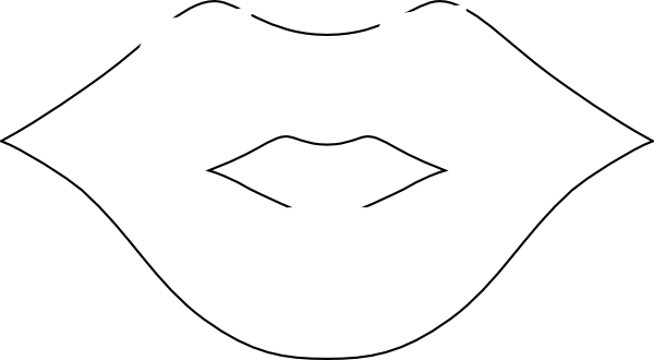 Mouth And Tongue Clipart Black And White Lips Hi Png