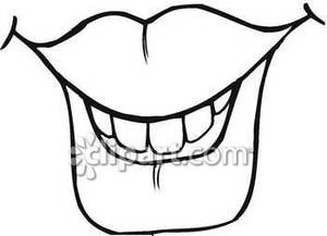 Mouth Clip Art Black And White   Clipart Panda   Free Clipart Images