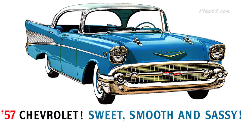 Plan59    Classic Car Art    1957 Chevrolet Bel Air