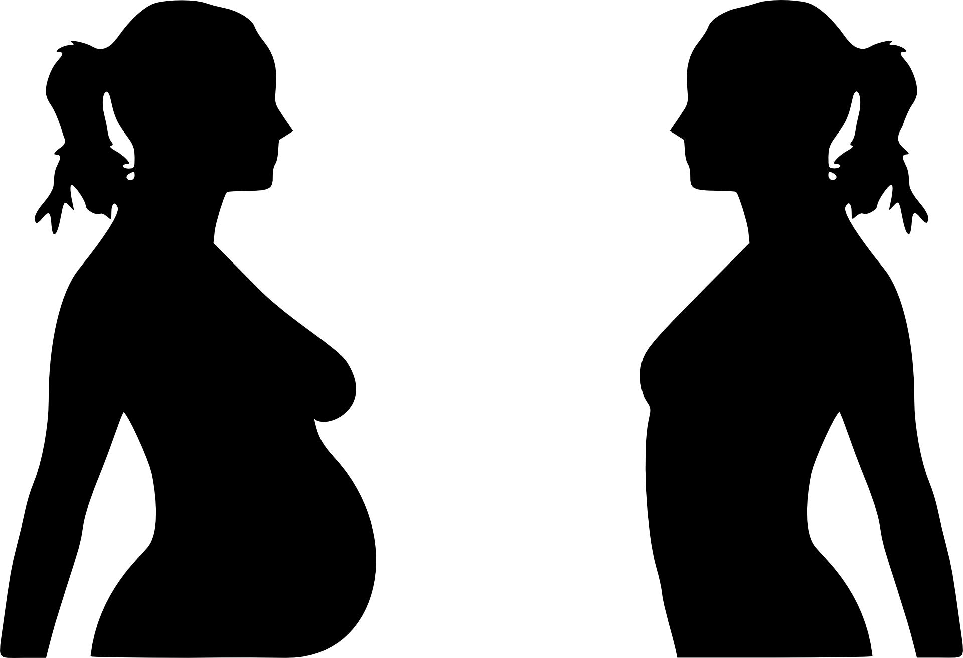 Pregnant Silhouette Clipart - Clipart Kid