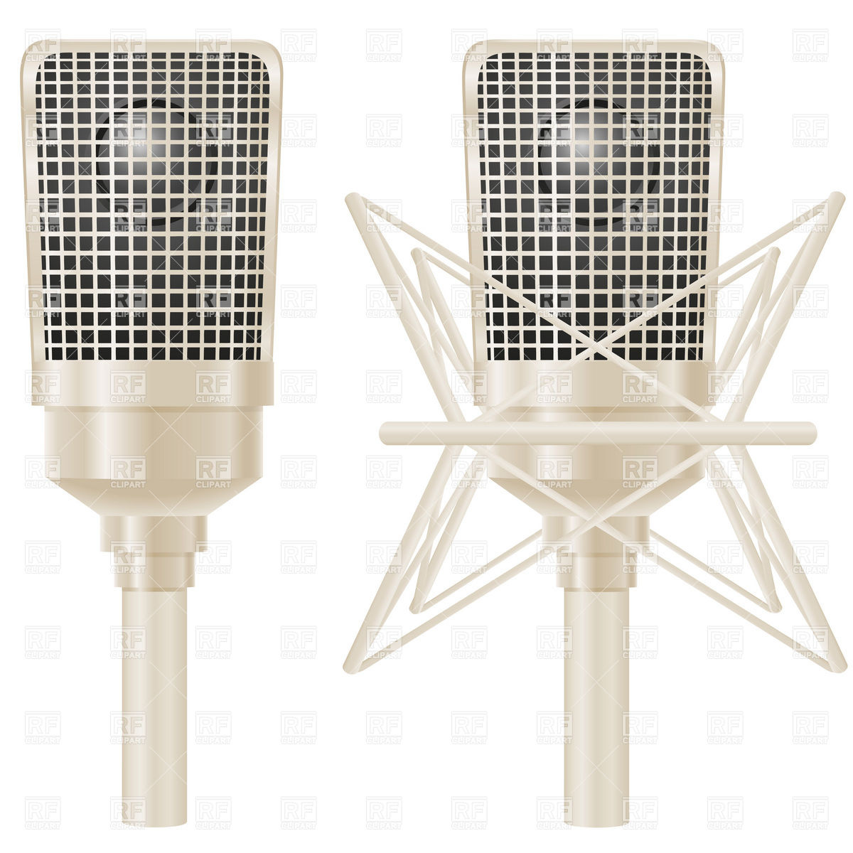 Professional Studio Microphone Objects Download Royalty Free Vector