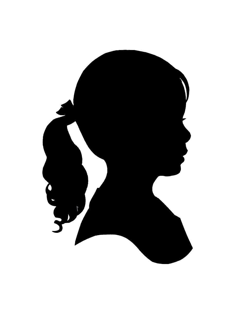 Shirk Designs  Little Girl Sillhouette Picture