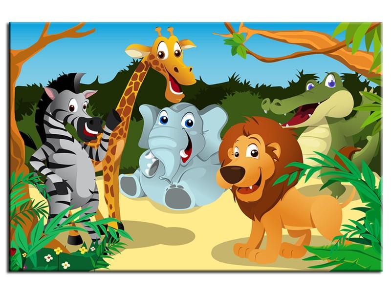 Group of wild animals clipart clipart suggest - Decoration animaux de la jungle ...