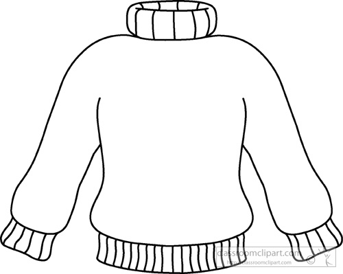 jacket clipart black and white - photo #46
