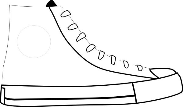 White Shoe Clip Art At Clker Com   Vector Clip Art Online Royalty