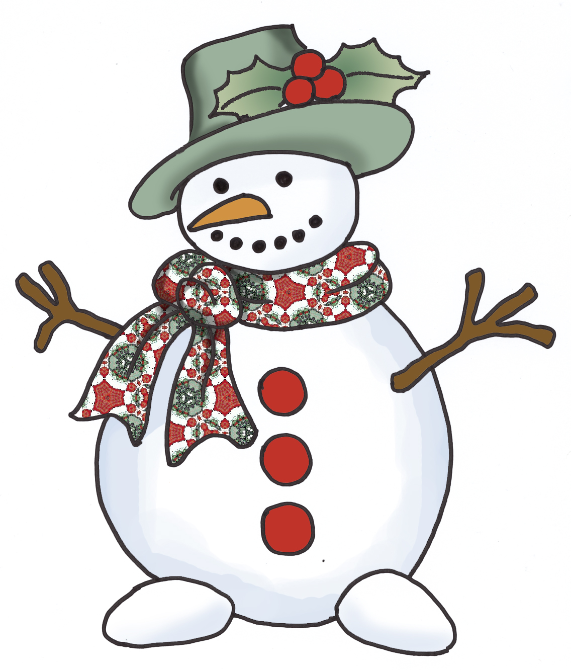 Small country snowman clipart suggest