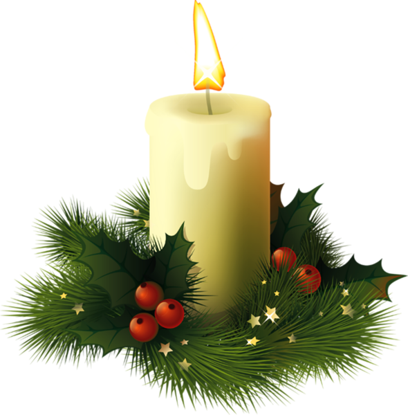 Christmas Candlelight Clipart - Clipart Kid