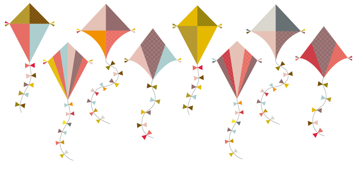 Colorful Kite Clip Art Clipart Set Personal By Collectivecreation