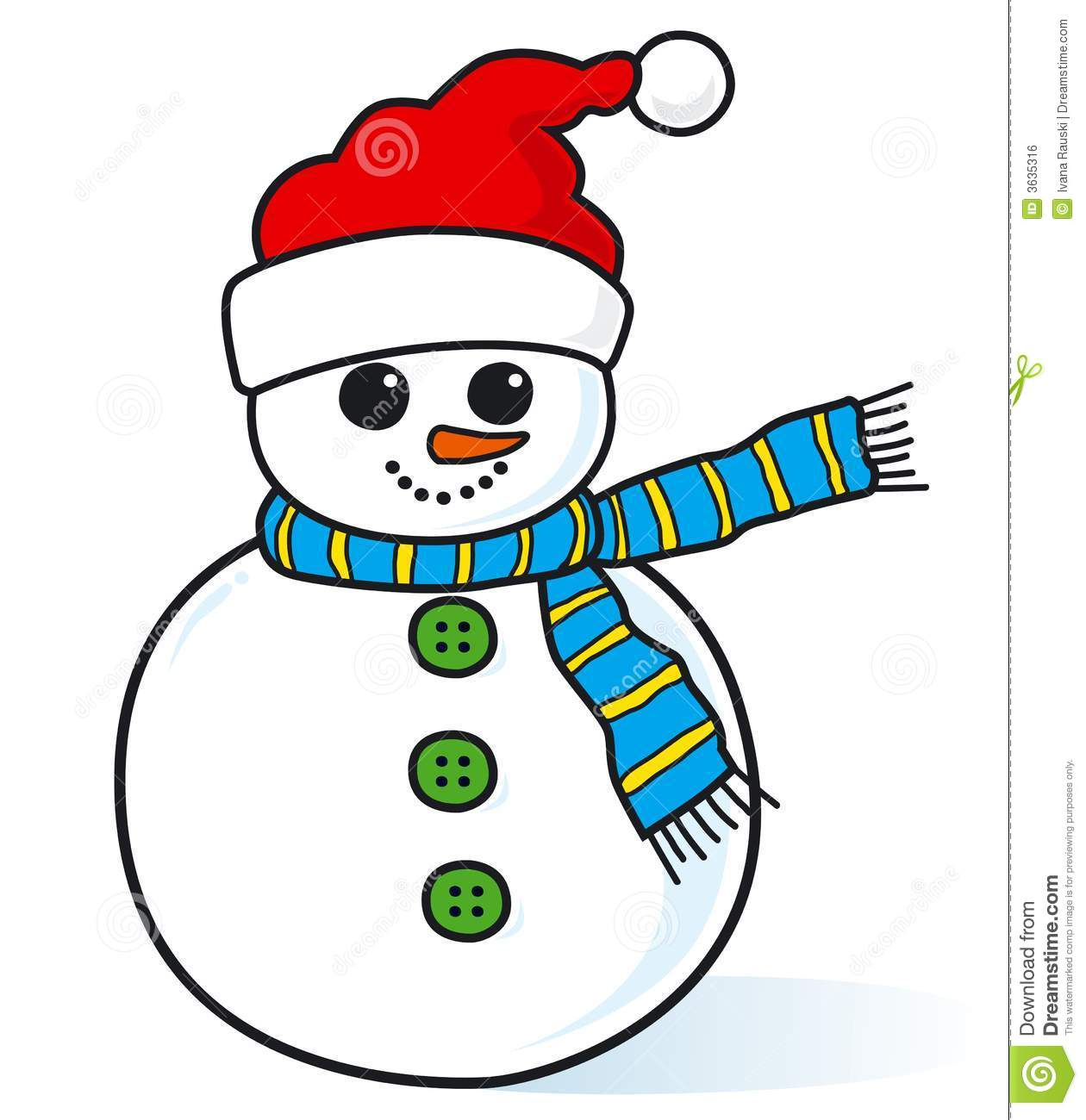 Cute Little Snowman Royalty Free Stock Image   Image  3635316