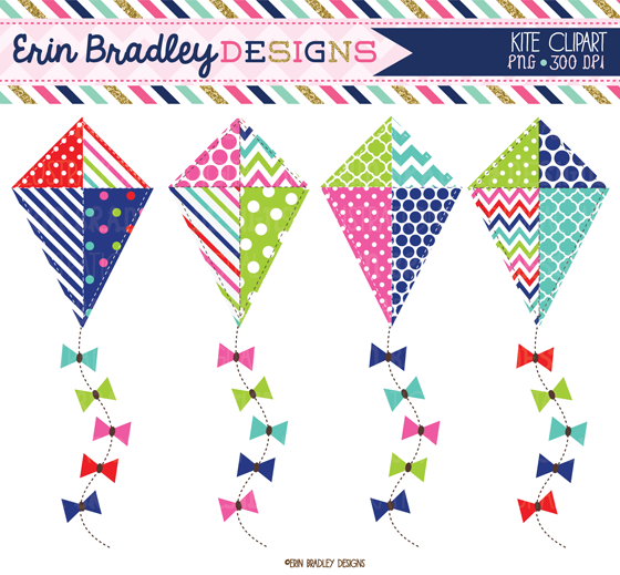 Erin Bradley Designs  New  Kites Cameras   Umbrellas Clipart