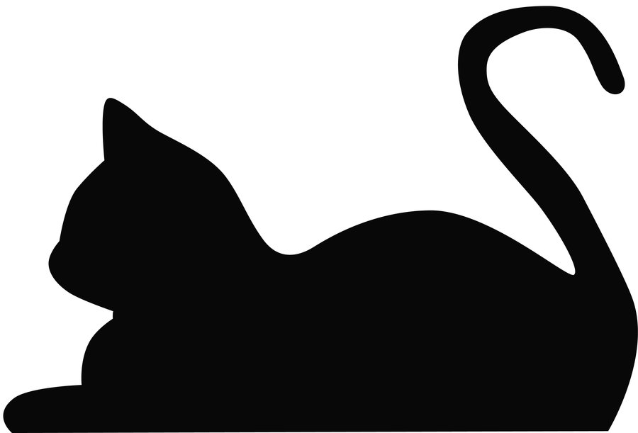 Cat Silhouettes Outlines Halloween Outline Clipart Kid