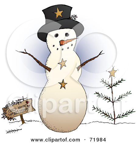 Royalty Free  Rf  Clipart Illustration Of A Snowman Couple Gazing At