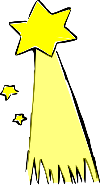 Shooting Star Colored Clip Art   Vector Clip Art Online Royalty