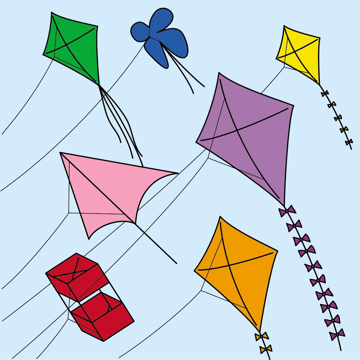 March Kites Clipart - Clipart Kid