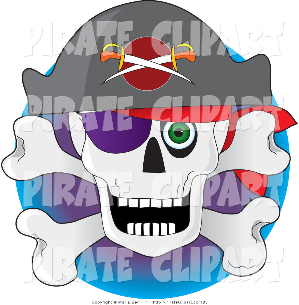 Vector Clip Art Of A Pirate S Skull And Crossbones With A Hat Eye Hvdvyc Clipart Suggest