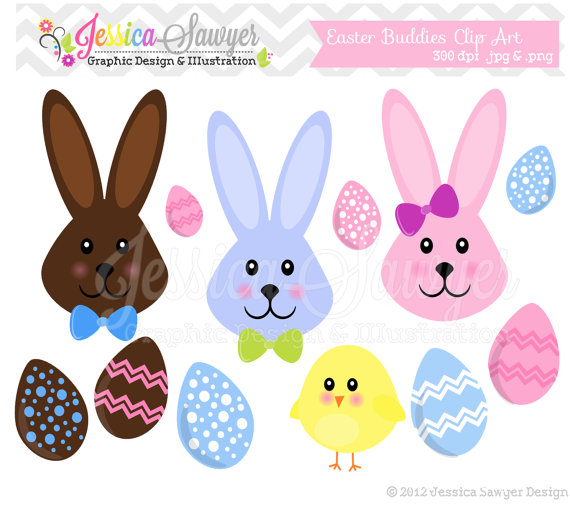Clearance Easter Bunny Clipart Easter Egg Clip Art Chocolate Bunnie