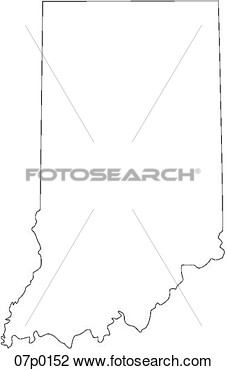 Clipart   Indiana Map  Fotosearch   Search Clip Art Illustration