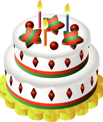 Christmas Birthday Cake Clipart - Clipart Suggest