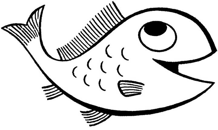 Features A Happy Looking Cartoon Fish With Big Eyes And A Wide Smile